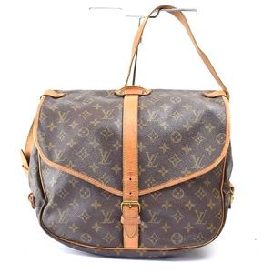 Auth Louis Vuitton Saumur 35 Crossbody Bag